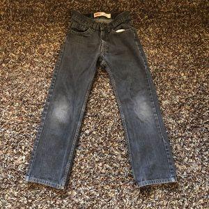 Levi's Boys 505 Straight Black Jeans Size 12 Slim